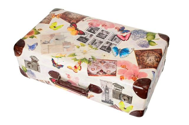 modge podge suitcase