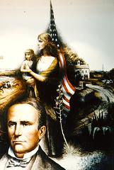 """Mural: """"Texas Moves Toward Statehood"""" - section 5 of 5"""