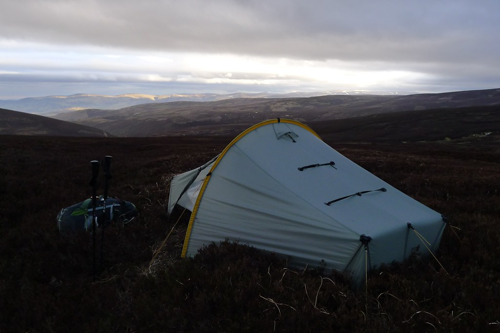 Wild camping above Glen Esk