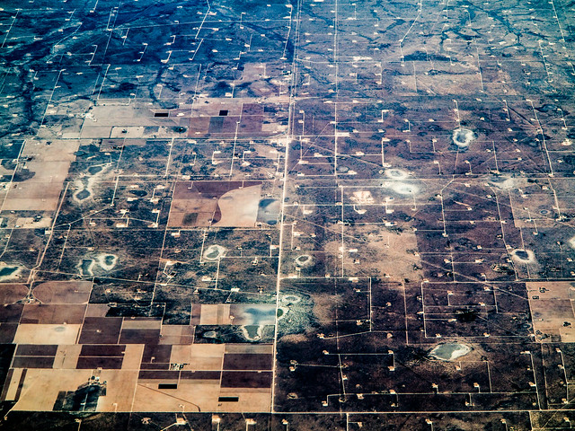 An oil field in Texas