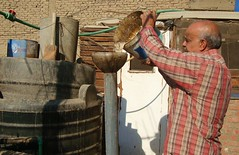 In Egypt, some families are turning to bio-gas digesters that convert organic waste into methane, for fuel. Credit: Cam McGrath/IPS