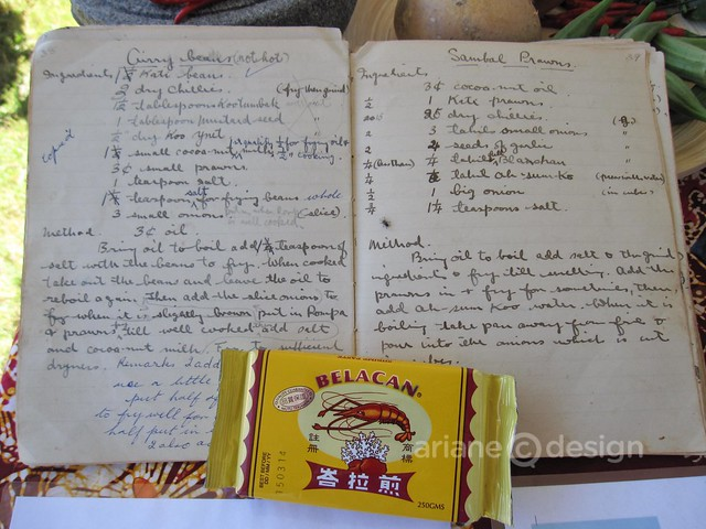 Patricia Low's handwritten recipe book