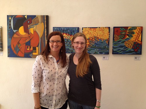 I got to meet my pen pal Anne at my art show in June!