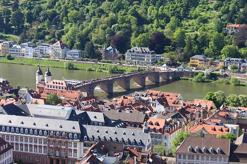 view from Heidelberg Castle on the Old Bridge
