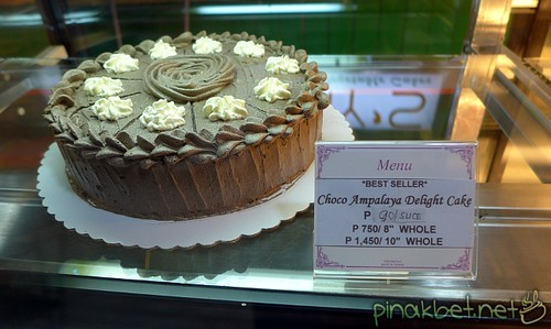 Choco Ampalaya Delight Cake (90 Pesos/slice) at Amy's Fruit and Vegetable Cakes