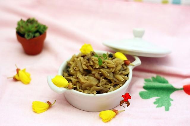 蘑菇義大利米麵 Mushroom Orzo 1