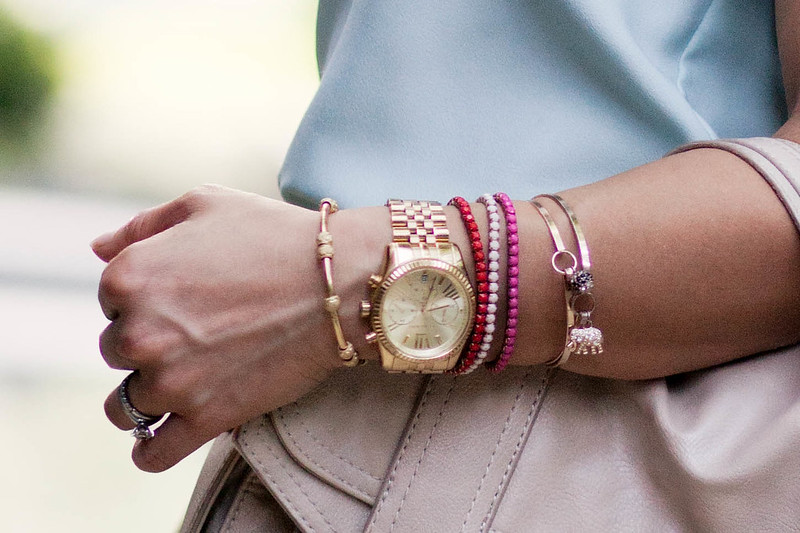 mint, pink, studs #pastel #streetstyle #armparty