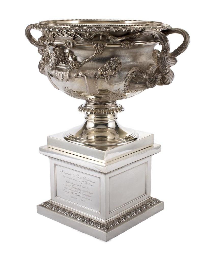 Trophy presented to Don Bradman, 1948