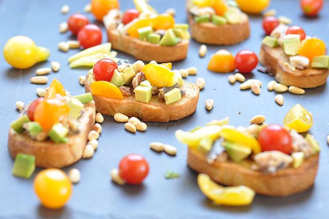 Tomato and Sardine Crostini