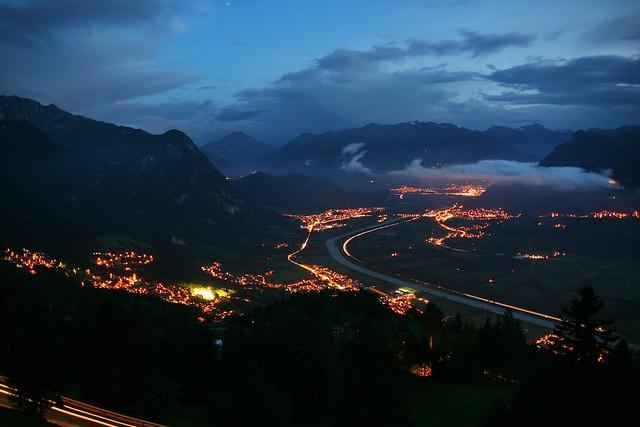 Evening over Liechtenstein (and Switzerland)
