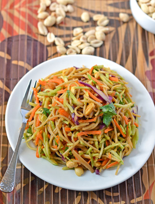Asian Noodle Salad - Fresh and healthy with a sweet and sour peanut ...
