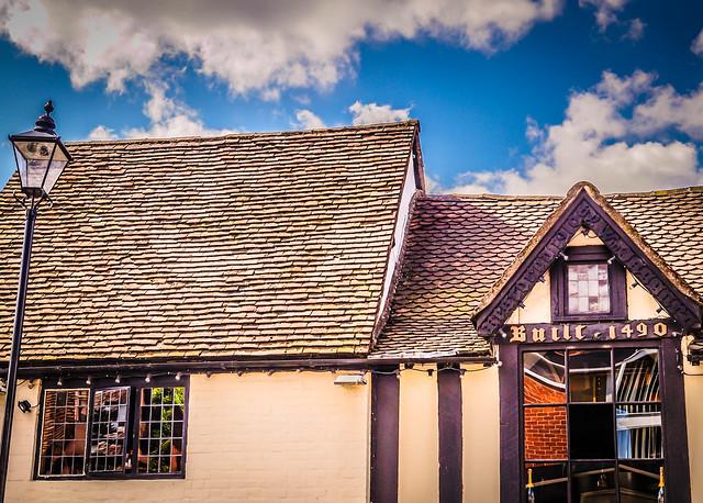 Antigua casa residencial en Stratford-upon-Avon. Reino Unido.