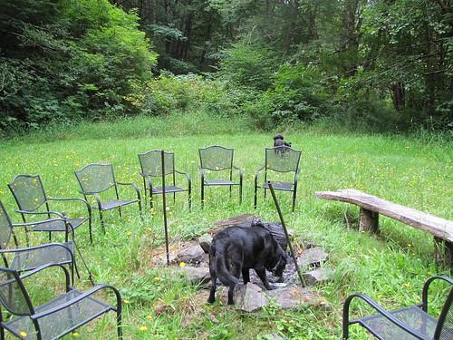 Maggie investigates the fire pit