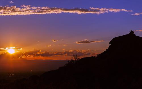 sunset sky sun newmexico silhouette landscape desert guitar albuquerque