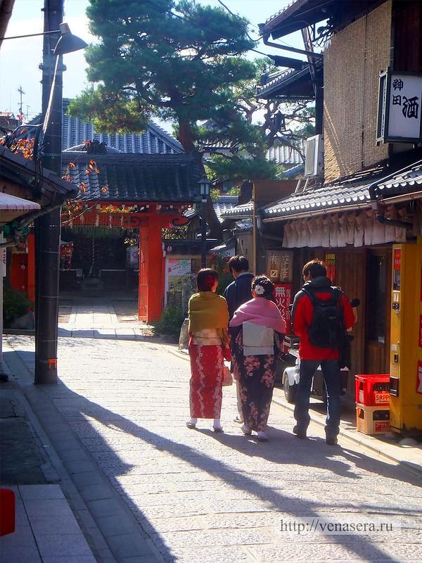 На улицах в Киото