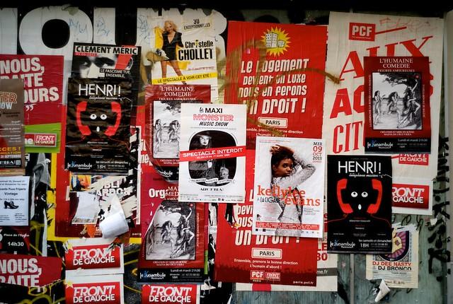 ラマルクコーランクール駅のポスター。