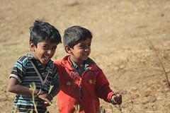 Sasan Gir, village boys