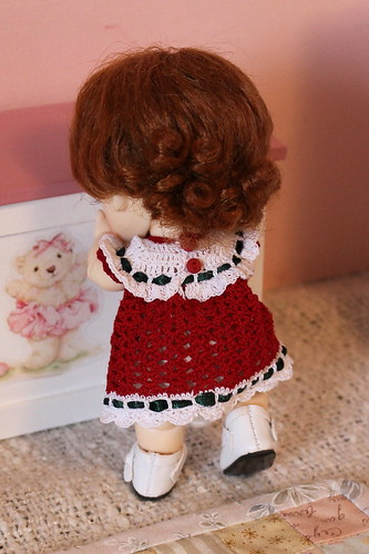 back of Christmas dress