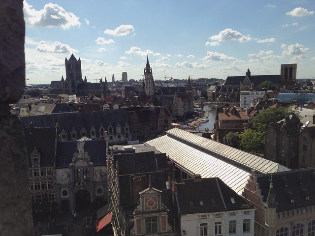 Another view of Gent from the Castle