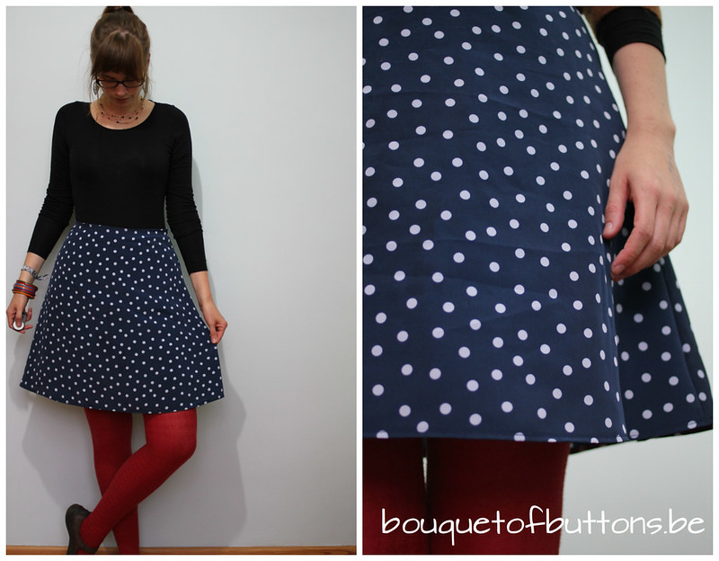 copycat polka dot skirt