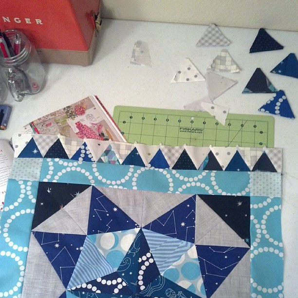 Added my first triangle border. #mmqal #marcellemedallion