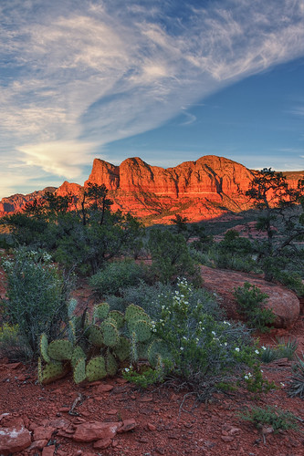 sunset arizona usa nature rock landscape day desert sedona clear geology americansouthwest yavapaitrail