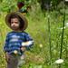 Marius dans le jardin