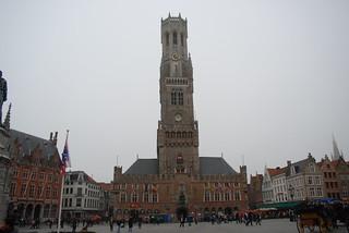 Image of Market Halls. tower belgium belltower belfry bruges belfort medievalbelltower