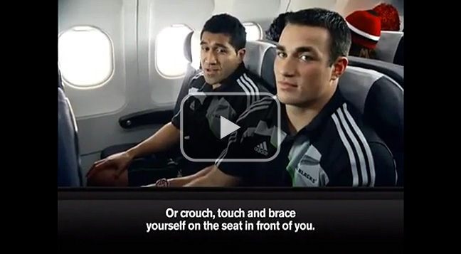 Air New Zealand's 'All Blacks' air safety video.