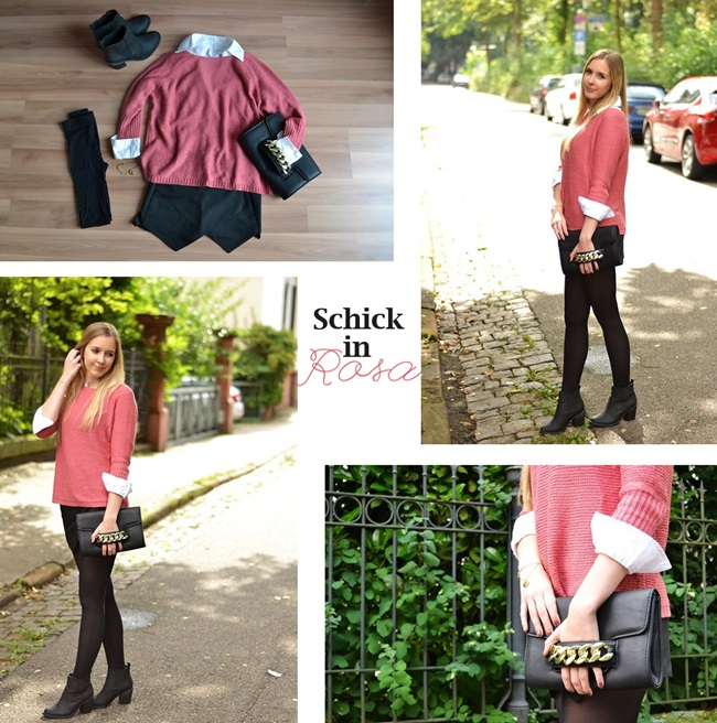 Outfit schick in rosa