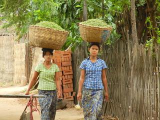 Taung Bi Village girls