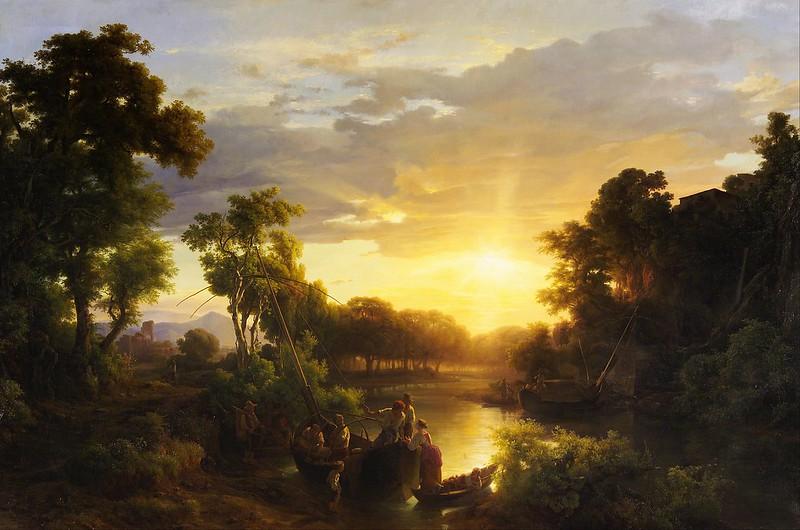 Károly Markó der Ältere - Italian Landscapes at Sunset (c.1851)