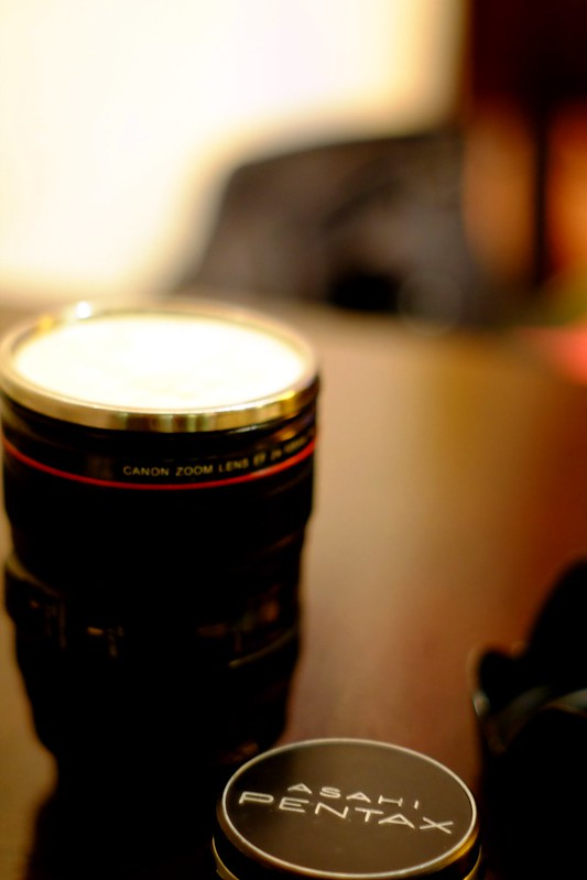 Lense mug in Tibetan Cafe