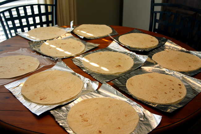 Tortilla-on-foil