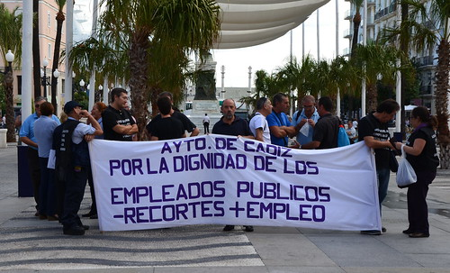 Strike in Cadiz, Spain by Ginas Pics