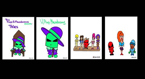 Mason Valentine Pimp Book Covers Comic Music Rap Hip Hop Song Cartoon Set Collection Lyric Record SPWK JRC Anime Super Deformed Kodomo Cartoon Characters Bad Girl Superhero Pop Manga Chibi Kawaii CD Album Download