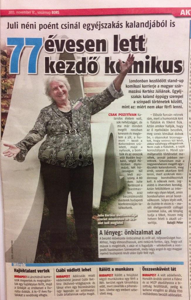 November, 2013 Sunday newspaper, Bors