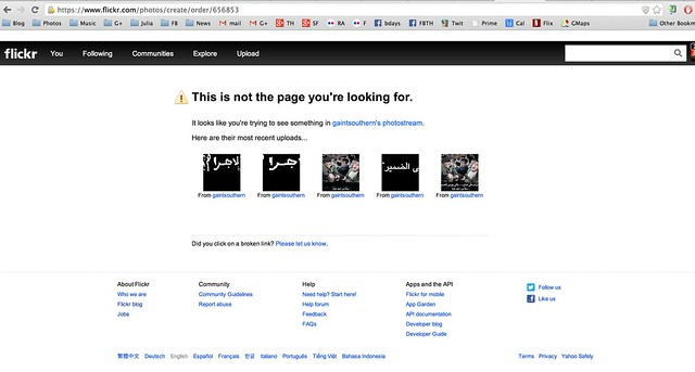 When I First Tried to Check Out Flickr Took Me to a Non-Existent Page