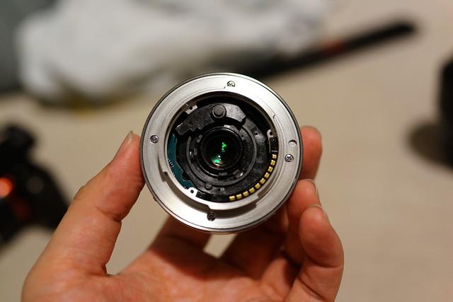 Sony A7 SEL16F28 拆掉擋板