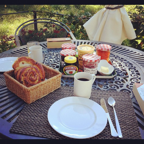 Summer breakfast on the patio Brobury House and Gardens English Summer time