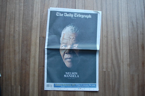 The Daily Telegraph - Nelson Mandela death