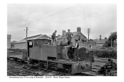 Belturbet. Dismantling loco 3T. 26.8.59