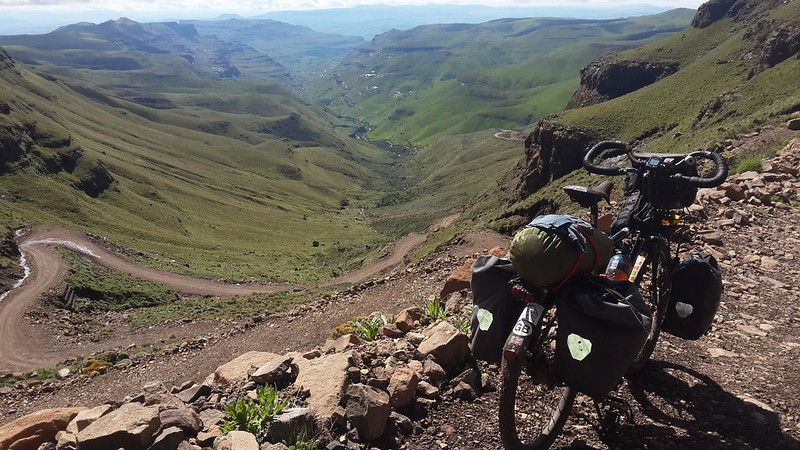 Descending the Sani Pass