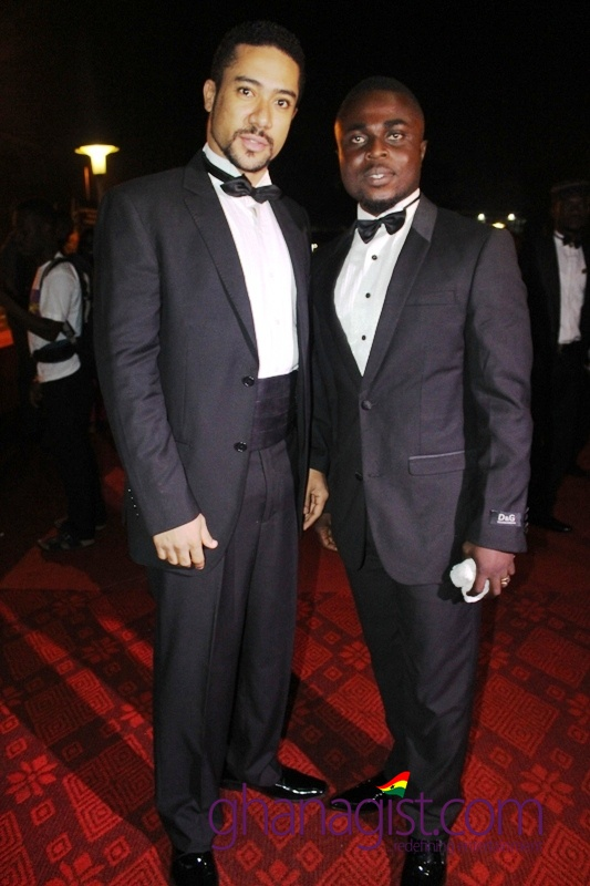 Majid Michel and a friend