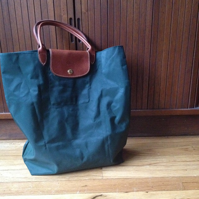Longchamp green tote from tag sale in Dix Hills