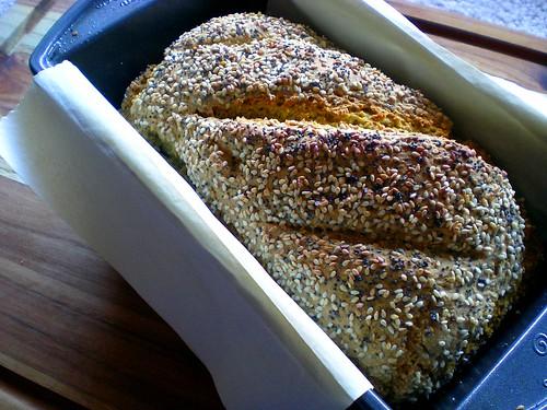 oat soda bread baked