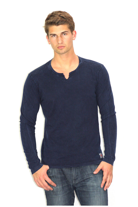 sportiqe navy coachella long sleeve shirt