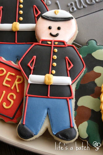 Marines cookie.