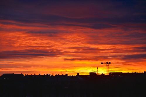 sunrise bavaria day cloudy münchen theresenwiese morgendämmerung