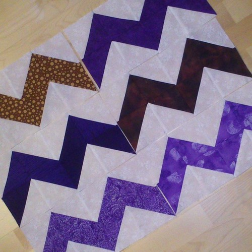 6 double chevron blocks